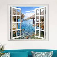 3D искусственный вид из Windows 3D наклейки для стен декор наклейки на море Номер с видом на дом стены подарок