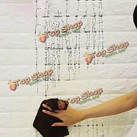 4шт 3D упругости кирпича зерна обои стены наклейки DIY анти-столкновения звуковая изоляция самослипание деколи