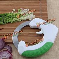 Творческий нержавеющей стали вальцовка нож не скользит круговой нож инструменты кухня для приготовления пищи
