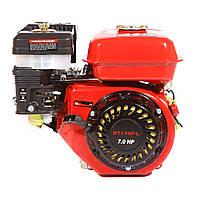 Двигатель WEIMA BT170F-L (R) с редуктором (шпонка, вал 20мм, 1800 об/мин), бензин 7.5 л.с., фото 1