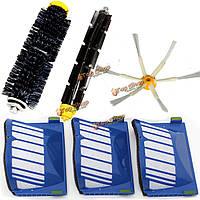 6шт пылесос аксессуары Фильтры кисти пакет комплект для IROBOT Roomba 600 Series 600 620 630 650