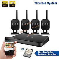 Zmodo 720p 4CH умный дом беспроводная система ночного видения камеры безопасности на открытом воздухе в помещении с 1TB WD HDDtb HDD