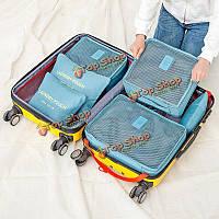 6шт непромокаемые мешки хранения путешествия упаковки куба одежду мешочек организатор багажа