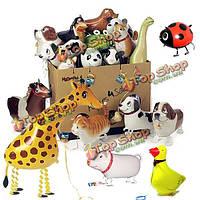 Ходить животное воздушный шар Дети детям подарки воздушные шары из фольги партия животных