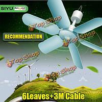 220В 7w бесшумный 6 листьев Mini электрический вентилятор Подвесные потолки анти комаров ветер холоднее попробовать меня