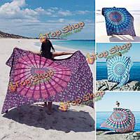 150x210см богемный стиль пляж полиэфирное волокно Yoga полотенце мандала прямоугольник простыня гобелен