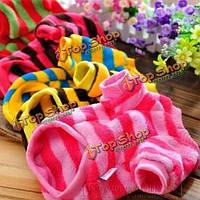 Очаровательные цветные полоски собаки любимчика цветастые футболки