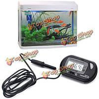 Цифровой Рыба воды в аквариуме ЖК Террариум термометр