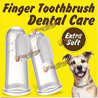 3шт мягкий домашнее животное палец зубную щетку удалить неприятный запах изо рта зубной камень Уход за зубами Собака Кот чистящие средств
