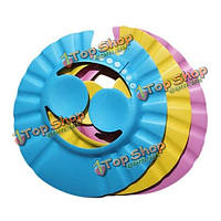 Ребенок шампунь шапочка для душа ванны шляпу защиты уха мягкие шапки регулируемые резиновые