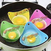 4шт силиконовые яйцо браконьер готовить переманивать стручок кухня выпечки чашку