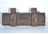 Подсумок на 20 патронов для мелкокалиберного ружья кожа Ретро коричневый
