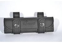 Подсумок на 20 патронов для мелкокалиберного ружья кожа Ретро черный