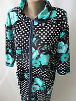 Женские велюровые халаты с воротником., фото 1