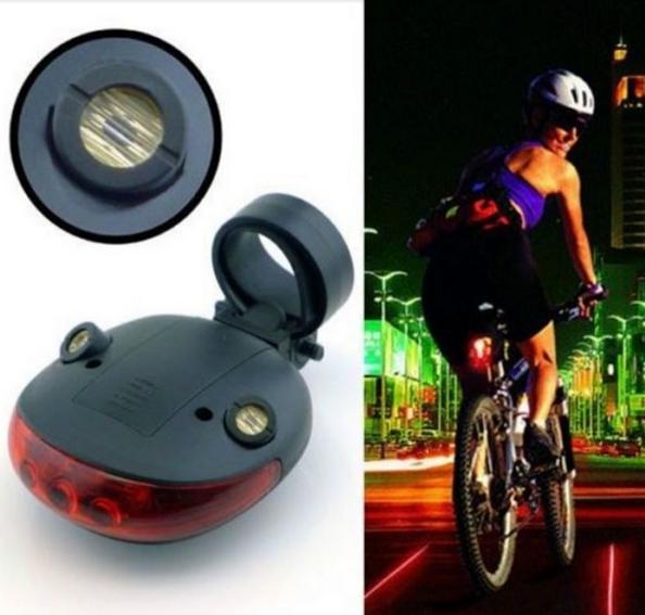 велосипедний стоп сигнал з лазерної доріжкою