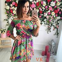 Красивое летнее женское  платье из шифона