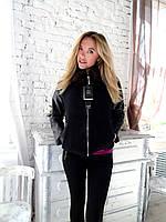 Куртка женская кашемир кожа норка 48 50 L