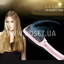 Расческа-выпрямитель волос - PTC HEATING 2 IN 1