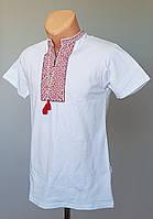Мужская футболка-вышиванка белого цвета