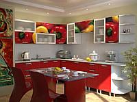 Кухонный гарнитур с фасадом ПВХ пленка