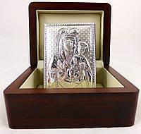 Икона Зарваницкая Божией Матери в деревянной шкатулке