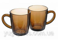 "Набір скляних кухлів 340 мл ""Mugs 55531"" (Bronze) 2шт."
