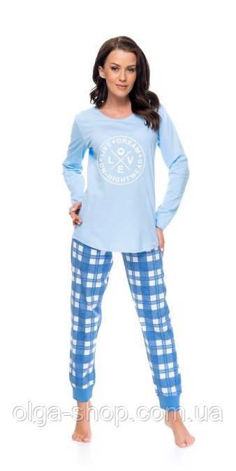Пижама женская Dobra Nocka 9082 с брюками хлопковая