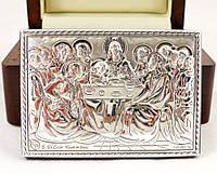 Изображение тайная вечеря в деревянной шкатулке
