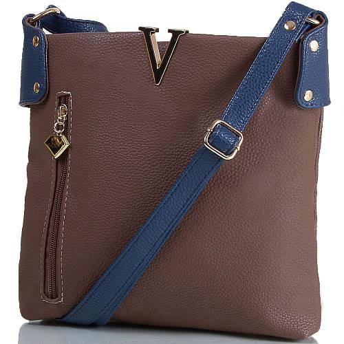 Компактная женская мини-сумка из искусственной кожи ETERNO (ЭТЕРНО) ETMS35302-12 коричневый