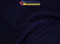 Стеганный трикотаж ромб (темно- синий)