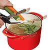 Нож-ножницы кухонный и разделочная доска для овощей 2в1