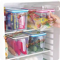 Контейнер еды кухонный бокс ящик для хранения продуктов питания четче холодильник с ручкой и дата таблице
