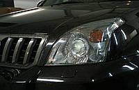 "Toyota LC Prado 120 - установка биксеноновых линз Moonlight G6/Q5 3,0"" D2S H4, фото 1"