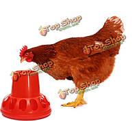 Куры Chook куриные утки питатель поливальщик пьющий пластиковые красные птицы гуси кроликов голуби огорода