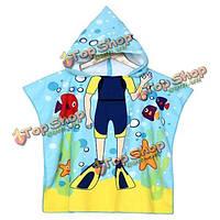 Детский халат полотенце