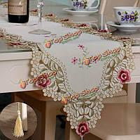 Бегун стол цветок бюро крышка с кисточкой свадебного декора день рождения партии