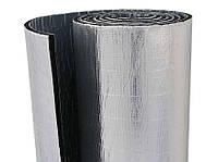 Изоляция листовая каучуковая 6мм с клеевой основой и фольгой (14 м2/рулон)