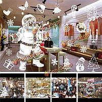 Рождество наклейки домашнего декора магазин съемный окно росписи стекла наклейку Рождество стены