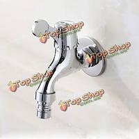 Хромированная латунь стиральная машина краны G1 / 2 одной ручкой холодной воды кухни ванной комнаты раковина смеситель