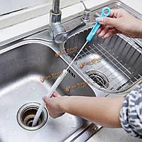 71см длинный гибкий перелив мойка чистка сливного драги щетка инструмент очиститель кухня