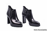 Ботильоны женские кожаные Basconi (ботинки строгие 173d10f7327c3