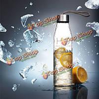 Стеклянная бутылка с водой h2o 8 на 450 мл портативная спортивная чашка