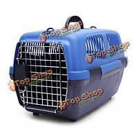 Кота собаки любимчика дыхательных путей коробка дома на борту транспортного средства-установленная чемодан