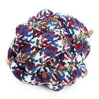Прокладка красочные хлопок вязаный шарик игрушки любимчика