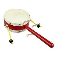 Детские детские дети овчины рука погремушка барабан раннее образование волны пожать музыкальный инструмент игрушка ритм