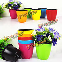 Мини-красочные для хранения воды цветочный горшок сад конфеты цвет пластиковых горшок культивируют