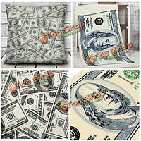 1шт доллар шаблон 3D бросок наволочки и US доллар рисунок микроволокно полотенце