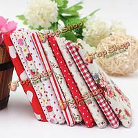 1 комплект красный серия 10 ассорти хлопок стежка ткани для шитья