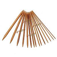75шт 15 размеры обугленных бамбуковых двойной вязальные спицы шляпа свитер шарф крючком