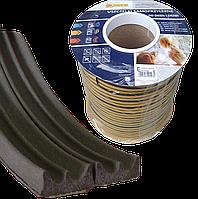 Ущільнювач -E-профіль 9*4мм (коричневий)